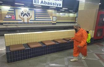 شركة المترو تواصل تطهير وتعقيم محطات وقطارات الخطوط الثلاثة | صور