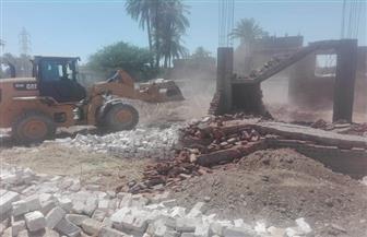 إزالة 85 حالة تعد بالبناء المخالف على الأرضي الزراعية وأملاك الدولة في المنيا