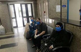 مستشفى العزل بقها: خروج 7 حالات تعافي من فيروس كورونا | صور