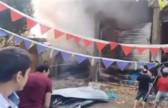 ماس كهربائى يتسبب فى حريق داخل مصنع عسل بطنطا| صور