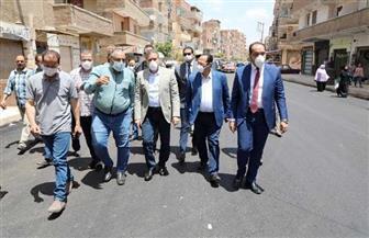 محافظ المنوفية يتابع أعمال رصف شارع نفق البساتين بشبين الكوم |صور