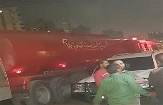 الحماية المدنية بالقاهرة تدفع بـ 5 سيارات إطفاء دعم إضافي لموقع حريق عقار ميت نما
