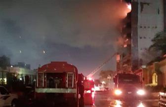 """""""الحماية المدنية"""" تنقذ 9 عمال في حريق عقار ميت نما"""