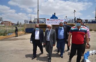 محافظ بورسعيد يفتتح أعمال تطوير محطة رفع مياه عكرة