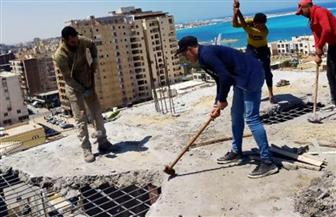 إحالة 23 حالة بناء مخالف للنيابة العسكرية في مرسى مطروح