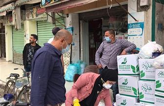 تضامن بورسعيد: توزيع المواد الغذائية على 125 أسرة في الحجر الصحي |صور
