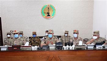 رئيس الأركان يتناول الإفطار مع مقاتلي مكافحة الإرهاب بشمال سيناء ويتفقد عددا من الأكمنة والارتكازات| صور