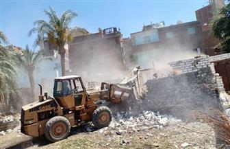 إزالة 18 حالة تعد على أراضي زراعية وأملاك دولة بمركز الفتح وحي شرق أسيوط| صور
