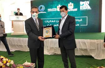 وزير الرياضة ومحافظ الغربية يطلقان قافلة مصر الخير الثانية للمساعدات الغذائية لـ18 محافظة  صور