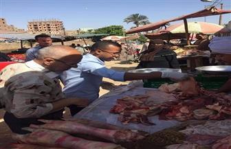إعدام 500 كجم لحوم غير صالحة للاستهلاك الآدمي في حملة بالبلينا| صور