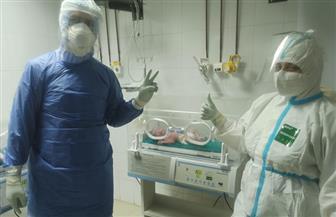 تعافي رضيع مصاب بكورونا بمستشفى تمي الأمديد بعد ٧ أيام من عزله | صور