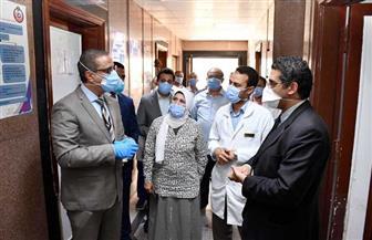 محافظ الفيوم يتفقد التجهيزات النهائية بمستشفى التأمين الصحي للعزل | صور