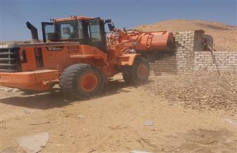 صميدة: إزالة ٤ محاجر متعدية على الأراضي ضمن كردون مدينة الفيوم الجديدة|صور