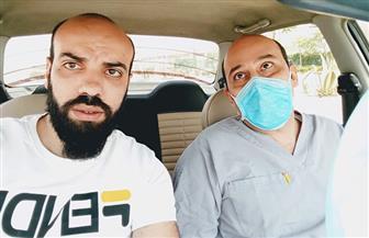 قرية بقلولة بكفرالشيخ تستقبل الطبيب محمود قنيبر الذي فقد بصره بعزل بلطيم