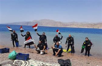 استمرار مبادرة تطهير قاع البحر بشواطىء مدينة دهب | صور