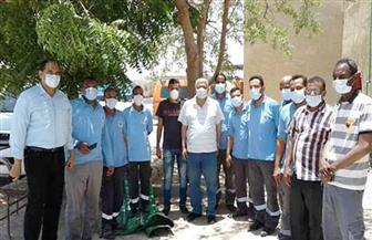رئيس مدينة مرسى علم يكرم عاملين بمرفق الإسعاف لجهودهم في مكافحة كورونا