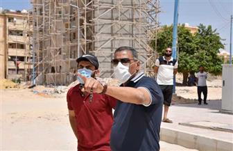 محافظ مطروح يتفقد أعمال تطوير عمارات منطقة الكيلو 4 القديمة | صور