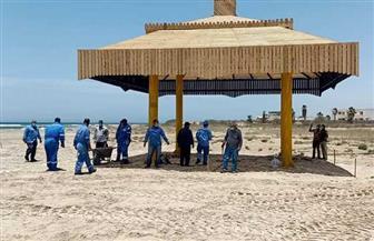 البترول تهدي أكبر برجولة على شاطئ الفيروز بمدينة طور سيناء | صور