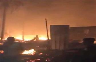 تحريات مكثفة لبيان سبب حريق سوق سيراميك المرج