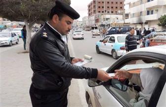 ضبط 3013 مخالفة مرورية متنوعة فى حملات على الطرق والمحاور