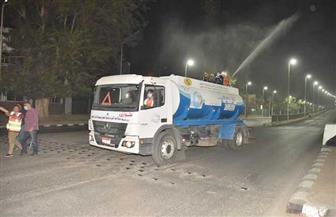 محافظة أسيوط تواصل حملات التطهير والنظافة بالمراكز والأحياء لمواجهة كورونا | صور