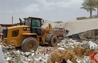إزالة 767 حالة تعدٍ على الأراضي الزراعية وأملاك الدولة بالفيوم | صور