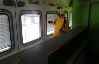 هيئة السكك الحديدية تواصل أعمال التطهير والتعقيم للمحطات والقطارات | صور