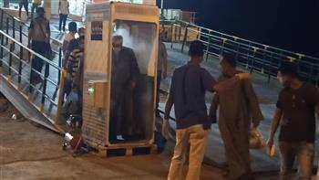 """وزير النقل يتابع وصول العبارة """"القاهرة"""" إلى ميناء سفاجا قادمة من ميناء ضبا السعودى"""