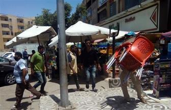 جهاز مدينة الشيخ زايد يشن حملة مكبرة لإزالة التعديات ورفع الإشغالات بالمدينة |صور