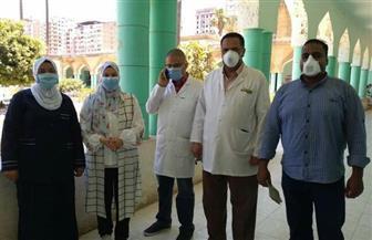 «غزل المحلة» تتبرع بـ3 آلاف كمامة ومستلزمات طبية من منتجاتها لمستشفى الحميات   صور