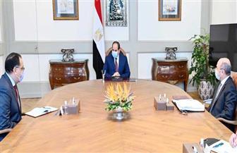 الرئيس السيسي يجتمع مع رئيس الوزراء ووزير العدل لمتابعة تطوير العمل بالهيئات القضائية