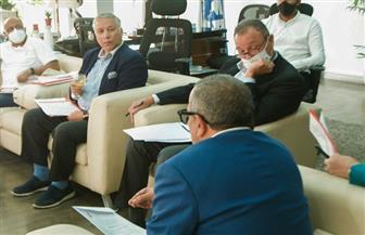 انتهاء اجتماع اللجنة الخماسية باتحاد الكرة مع المجموعة الأولى لأندية الدوري | صور