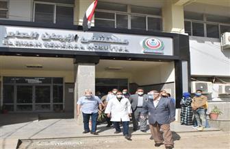 محافظ أسيوط يتفقد مستشفى الإيمان العام ويشهد حفل شفاء 6 من مصابي كورونا | صور
