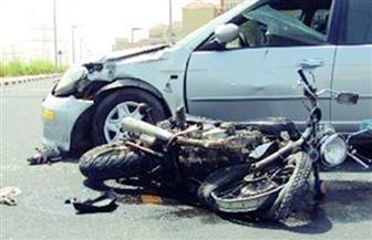 مصرع نائب مدير مستشفى بكفرالشيخ في حادث تصادم بين سيارة ملاكي ودراجة نارية