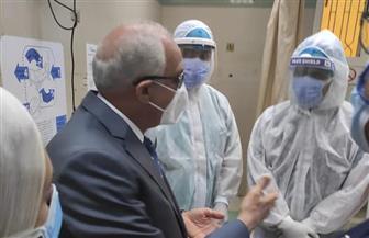 محافظ-الجيزة-يتفقد-مستشفى-حميات-إمبابة-و-أكتوبر-بالدقي- صور