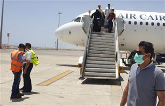 مطار مرسى علم الدولي يستقبل 167 من المصريين العالقين في السعودية | صور