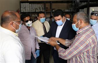 نائب محافظ السويس يتفقد العزل بمستشفى المحافظة |صور