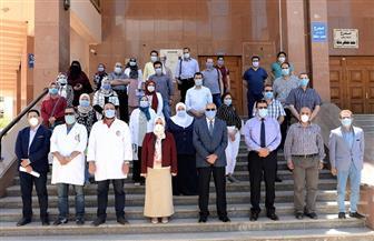 بدء تشغيل مستشفى عزل لمصابي كورونا من العاملين بجامعة المنصورة |صور