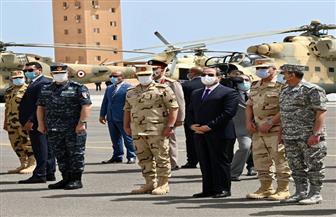 17 رسالة من الرئيس السيسي في خطابه اليوم بالمنطقة الغربية العسكرية | صور