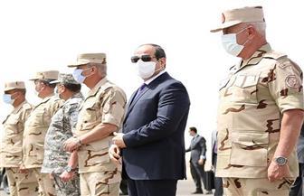 بث مباشر.. الرئيس السيسي يتفقد عناصر المنطقة الغربية العسكرية