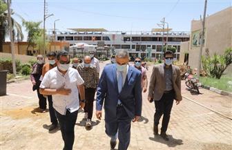 محافظ سوهاج يتفقد بوابة مرسى ناصر السياحي وتطوير الحديقة المتحفية | صور
