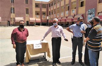 17 لجنة تستقبل 5135 طالبا وطالبة لآداء امتحان اللغة العربية فى أول أيام الثانوية العامة ببورسعيد |صور