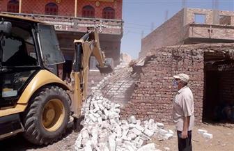 إزالة 15 حالة تعد على الأراضي الزراعية وأملاك الدولة بسوهاج| صور