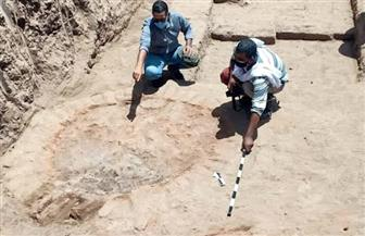 البعثة الأثرية المصرية تنجح في الكشف عن عدد من أفران للحرق وسور ضخم من الطوب اللبن يرجع للعصر الروماني| صور