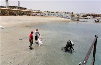 رفع 4 أطنان مخلفات صلبة خلال حملة لتنظيف قاع البحر الأحمر | صور