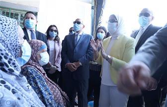 وزيرة الصحة تتفقد وحدة صحة المستقبل بالسادس من أكتوبر وتطمئن على سير العمل | صور