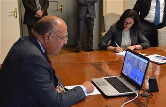 """عبر """"الفيديو كونفرانس"""".. وزير الخارجية يشارك في المؤتمر الوزاري غير العادي للتعهدات لوكالة الأونروا"""