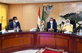 """وزيرة الصحة تعقد اجتماعا مع اللجنة العليا لمواجهة فيروس """"كورونا"""" بالفيوم"""