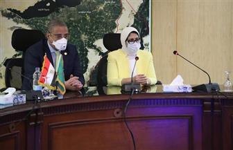 وزيرة الصحة: انخفاض نسب الإصابات بفيروس كورونا بمحافظة الفيوم.. والأنصاري: يشيد بتطوير منظومة الصحة  صور