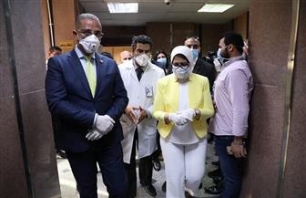 وزيرة الصحة تتفقد مستشفى الفيوم للتأمين الصحي.. وتخصيص 235 سريرا لمصابي كورونا |صور
